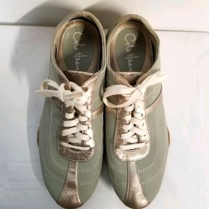 Cole Haan Nike Air Green Gold Sneakers 8.5B